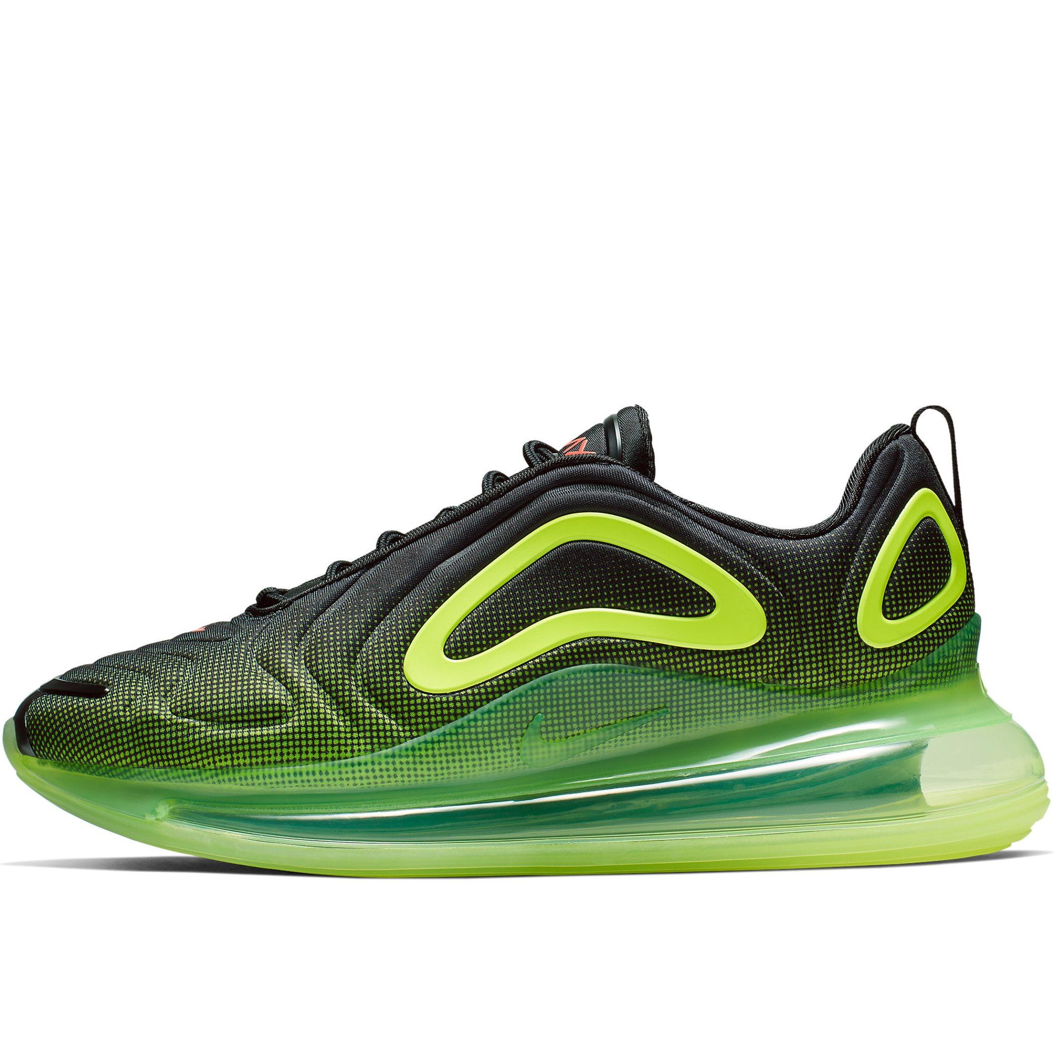 652382e1 Мужские кроссовки Nike Air Max 720 Black/Bright Crimson-Volt - фото 1