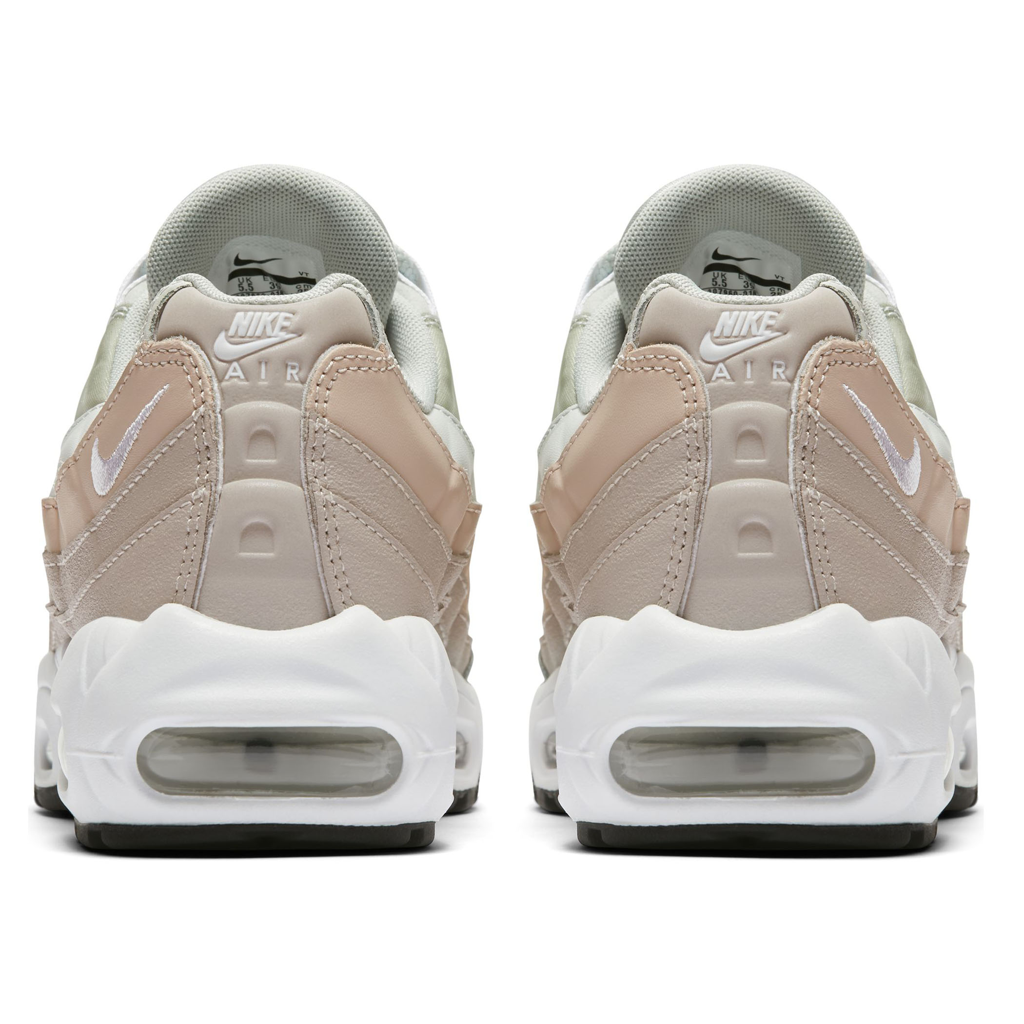 a309b206 Женские кроссовки Nike Air Max 95 Light Silver/White-Moon Particle - фото 4
