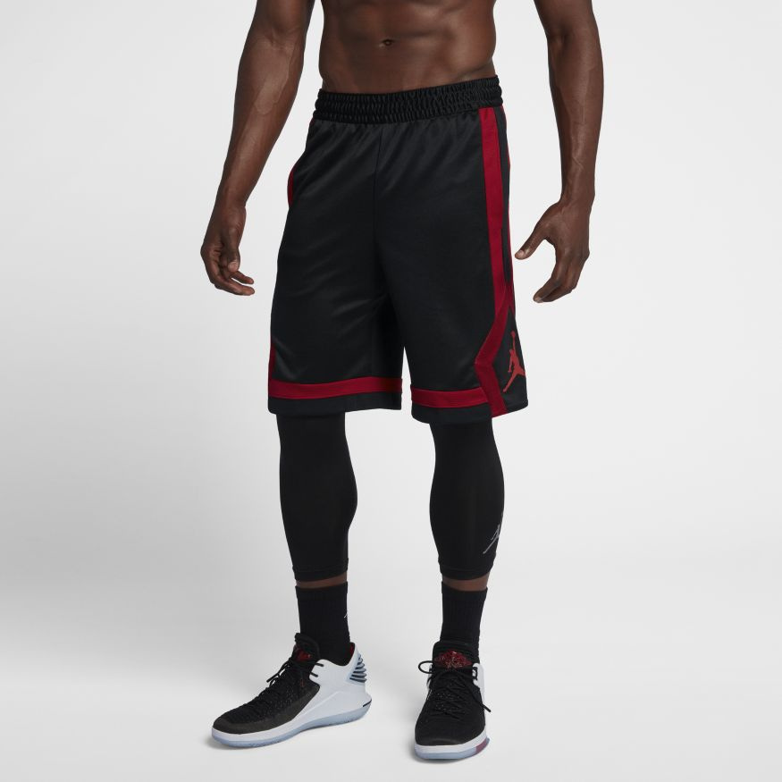 87f14aa4 Мужские шорты Jordan Rise Short Basketball Black/Gym Red - фото 4