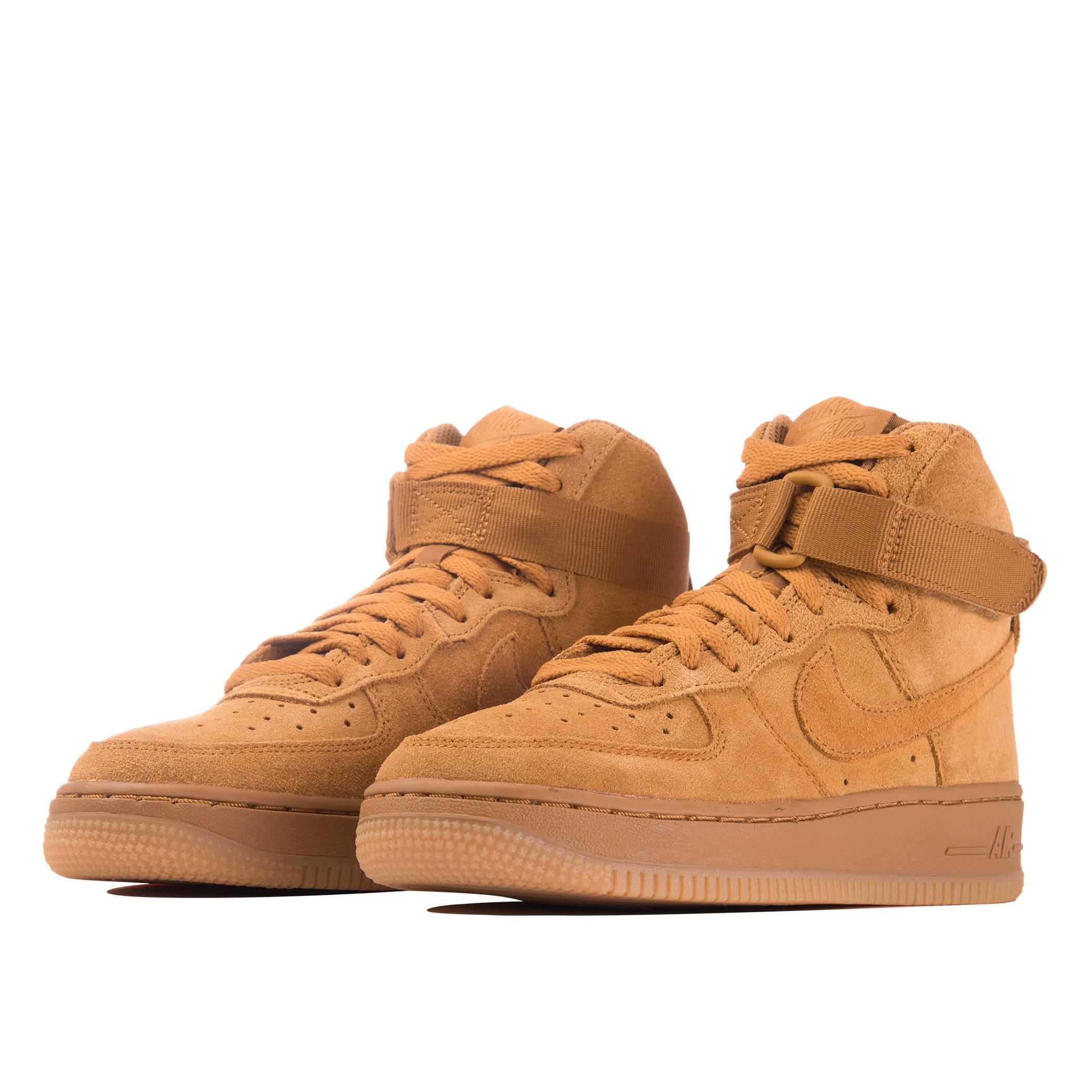 1bc2eb8c Подростковые кроссовки Nike Air Force 1 High LV8 (GS) Wheat/Gum Light Brown