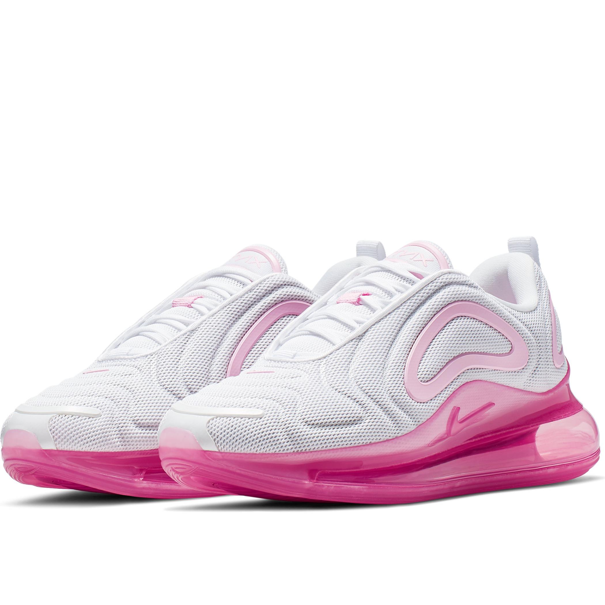 a9525a88 Женские кроссовки Nike Air Max 720 White/Pink Rise-Laser Fuchsia - фото 2