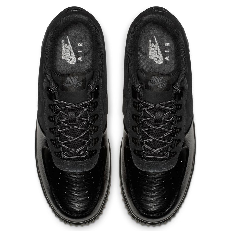 d1d82179 Мужские кроссовки Nike Lunar Force 1 Low Duckboot Black/Anthracite/Gum  Light Brown -