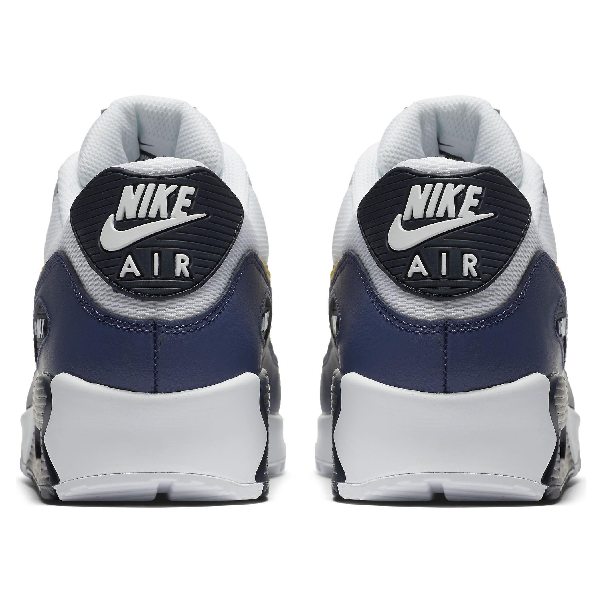 19775997 Мужские кроссовки Nike Air Max 90 Essential White/Tour Yellow-Blue Recall -  фото
