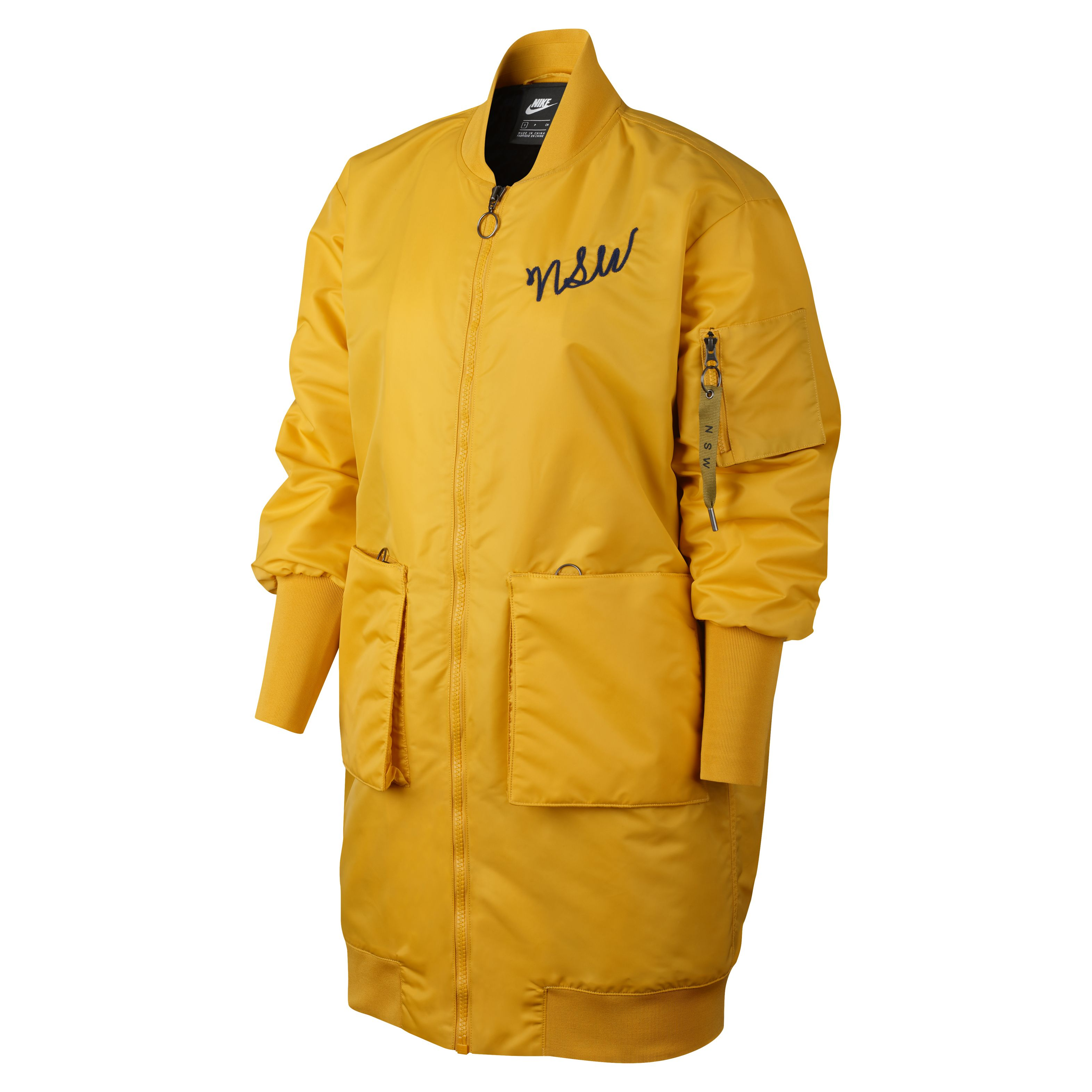 58be607b Женская куртка Nike Insulated Parka MA1 Yellow Ochre/Dark Obsidian/Dark  Obsidian - фото