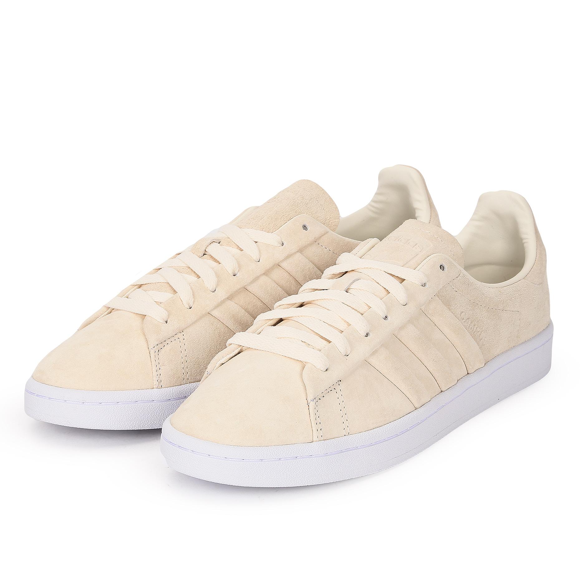 84e9cd4f74946d Мужские кроссовки adidas Originals Campus Stitch And Turn White - фото 2