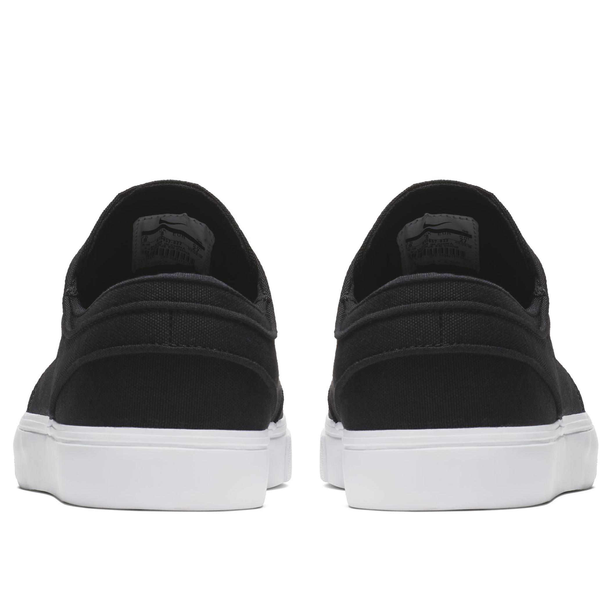 quality design a061b efd62 Мужские кеды Nike SB Zoom Stefan Janoski Canvas Black Black-White - фото 4