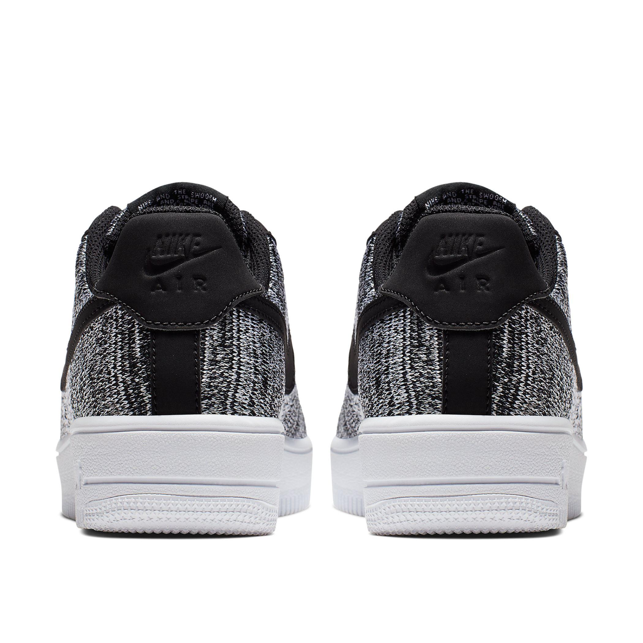 online retailer 27f03 40a76 Подростковые кроссовки Nike Air Force 1 Flyknit 2.0 (GS) Black Pure Platinum -