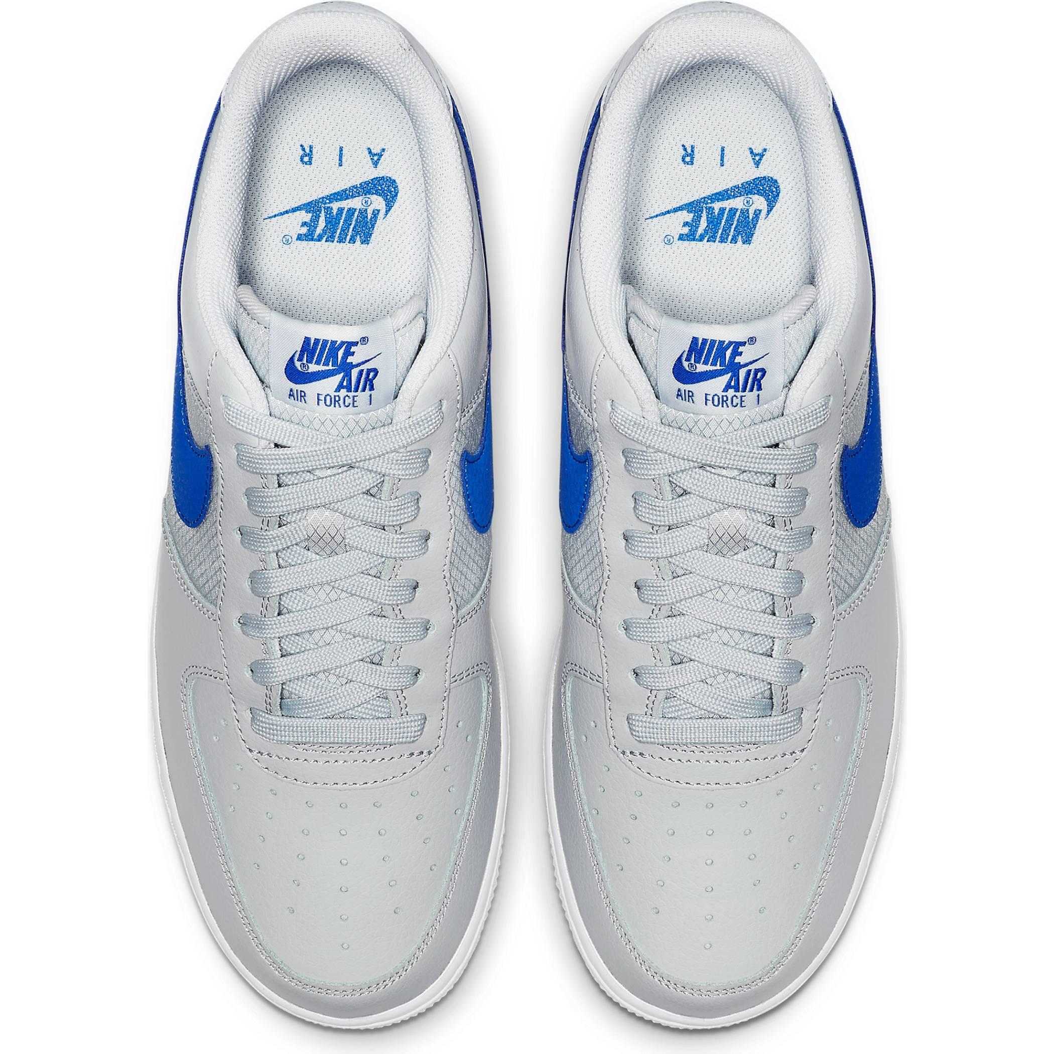 11cf1f76 Мужские кроссовки Nike Air Force 1 '07 LV8 Pure Platinum/Racer Blue - фото