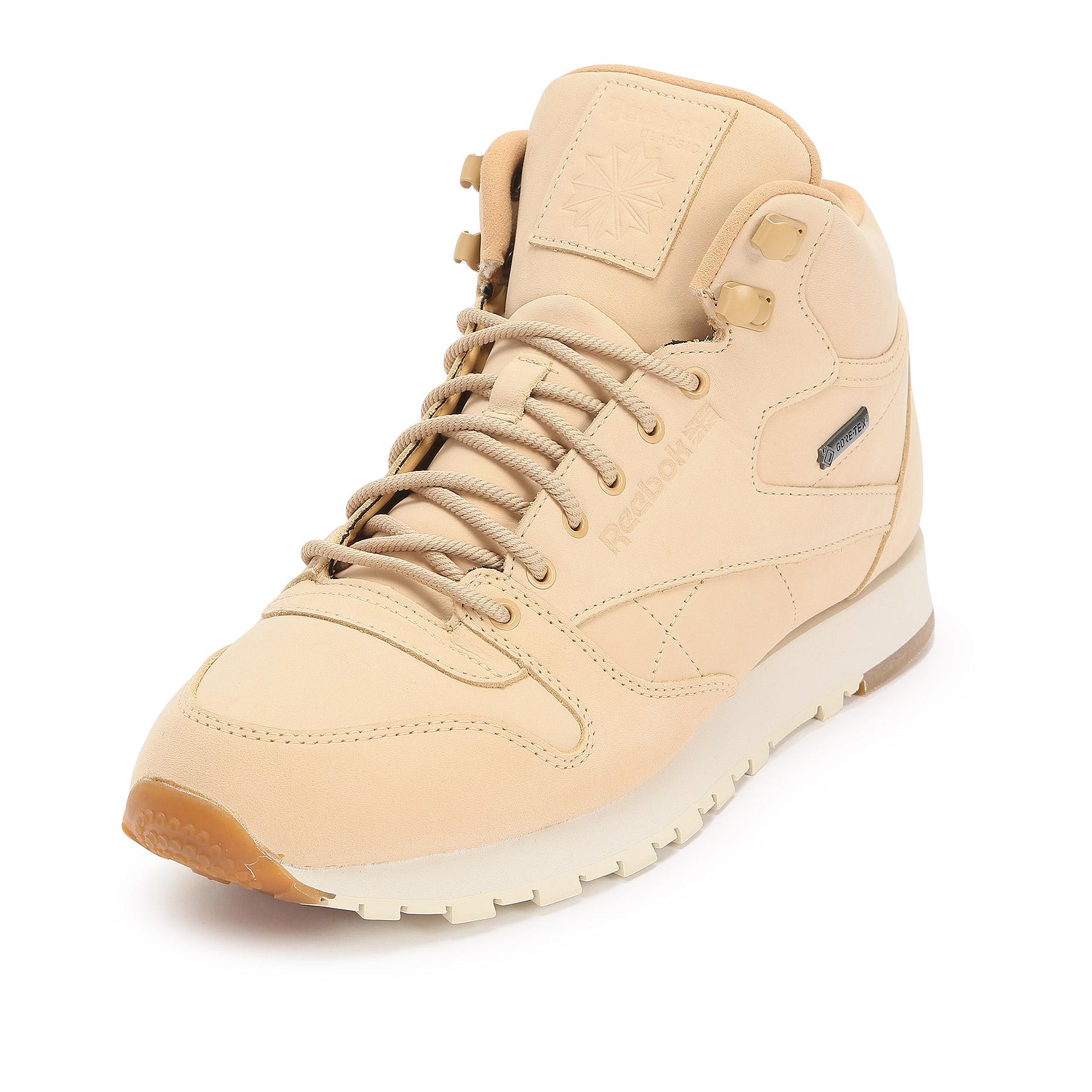 04e7e71b Мужские кроссовки Reebok Classic Classic Leather Mid Gore-Tex Thin Beige -  фото 2