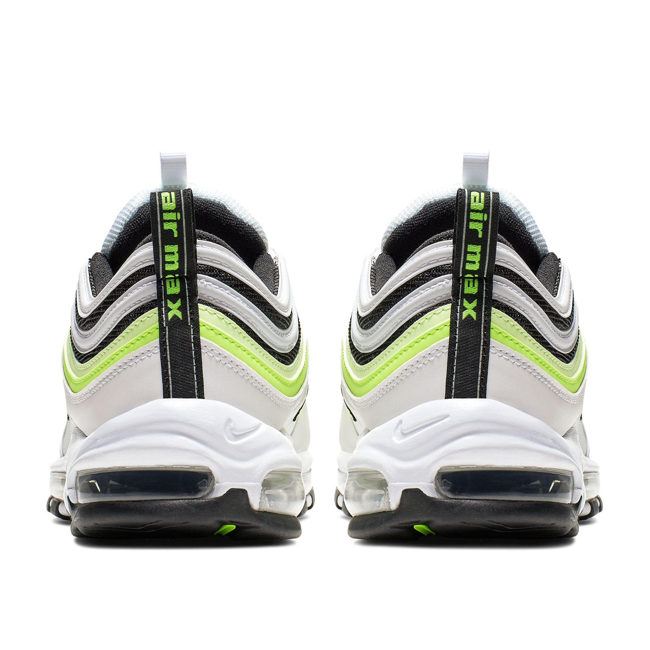1298101c Мужские кроссовки Nike Air Max 97 SE White/Volt-Barely Volt-Black -