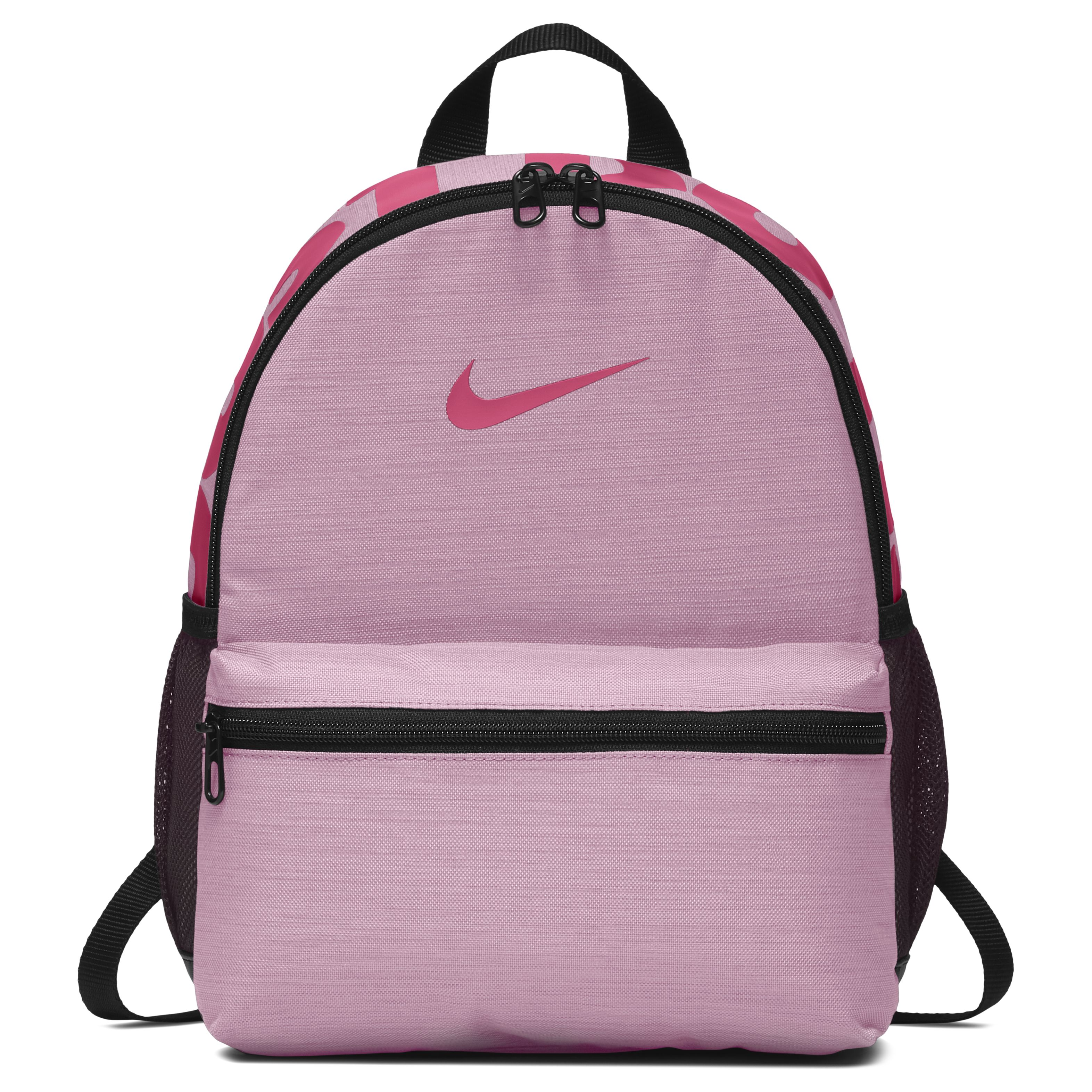 fc10d409 Рюкзак Nike Brasilia Just Do It Mini Pink/Black/Rush Pink - фото 1