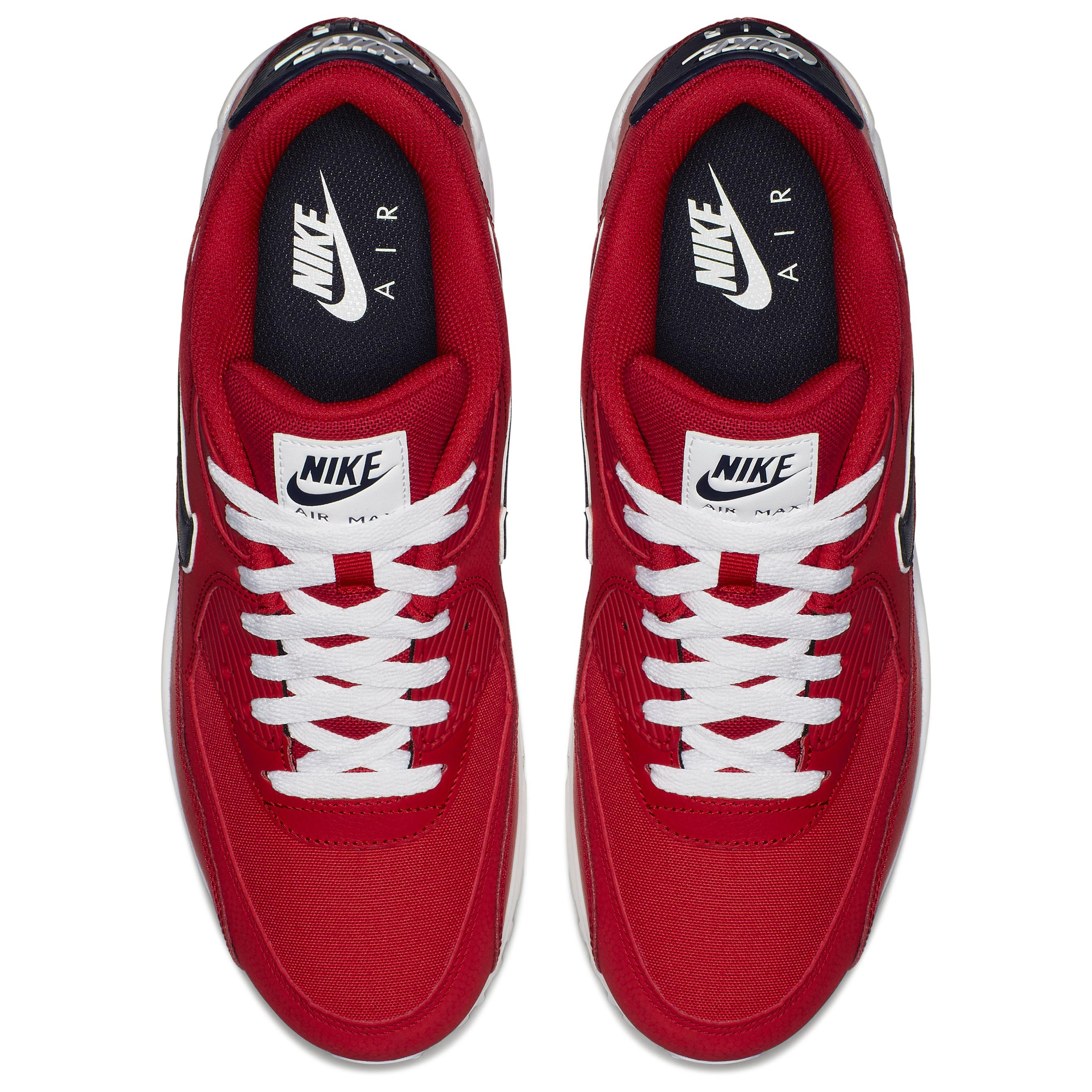 3e143964 Мужские кроссовки Nike Air Max 90 Essential University Red/Backened  Blue-White - фото