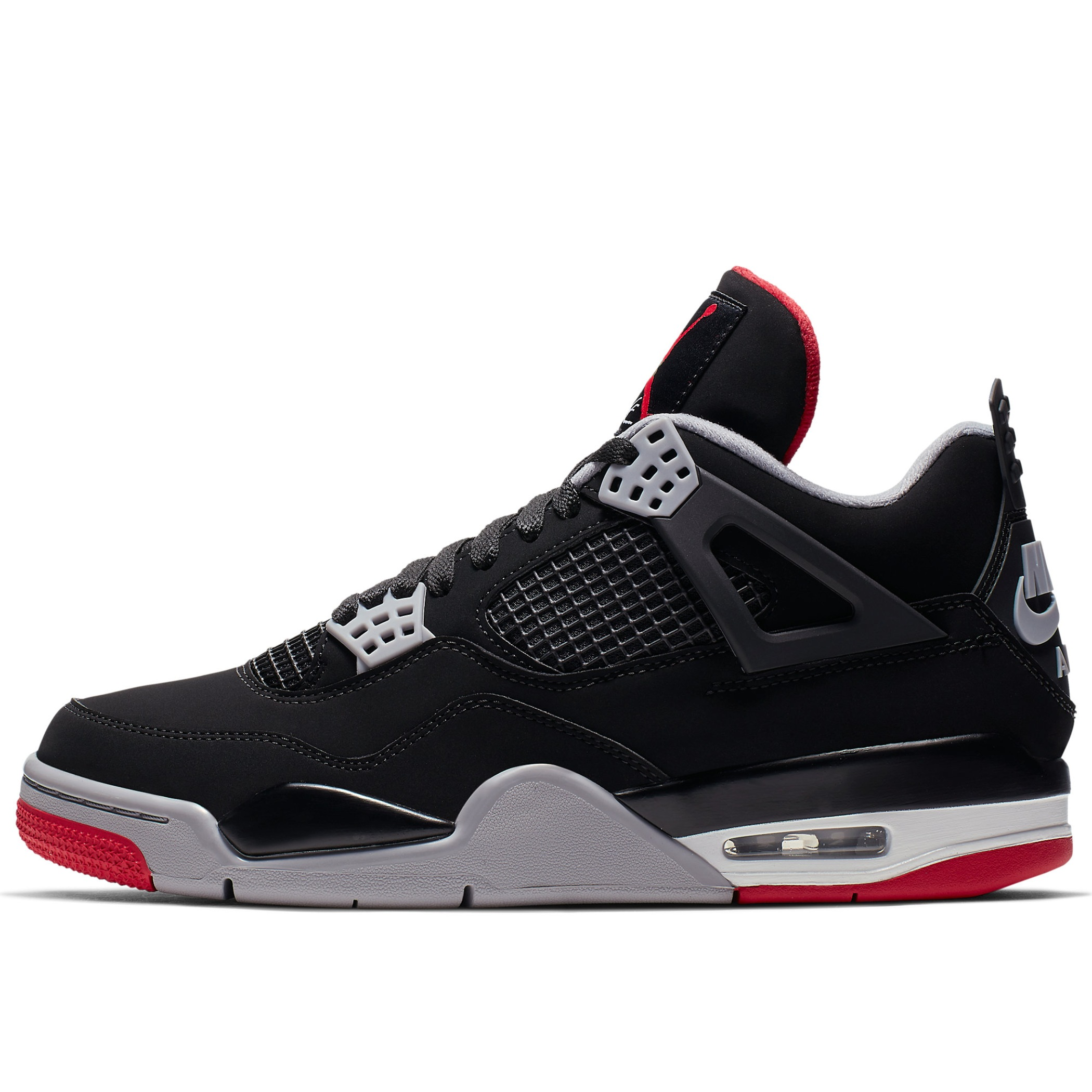 3b6a62cd Мужские кроссовки Jordan Air Jordan 4 Retro Bred Black/Fire Red-Cement Grey-