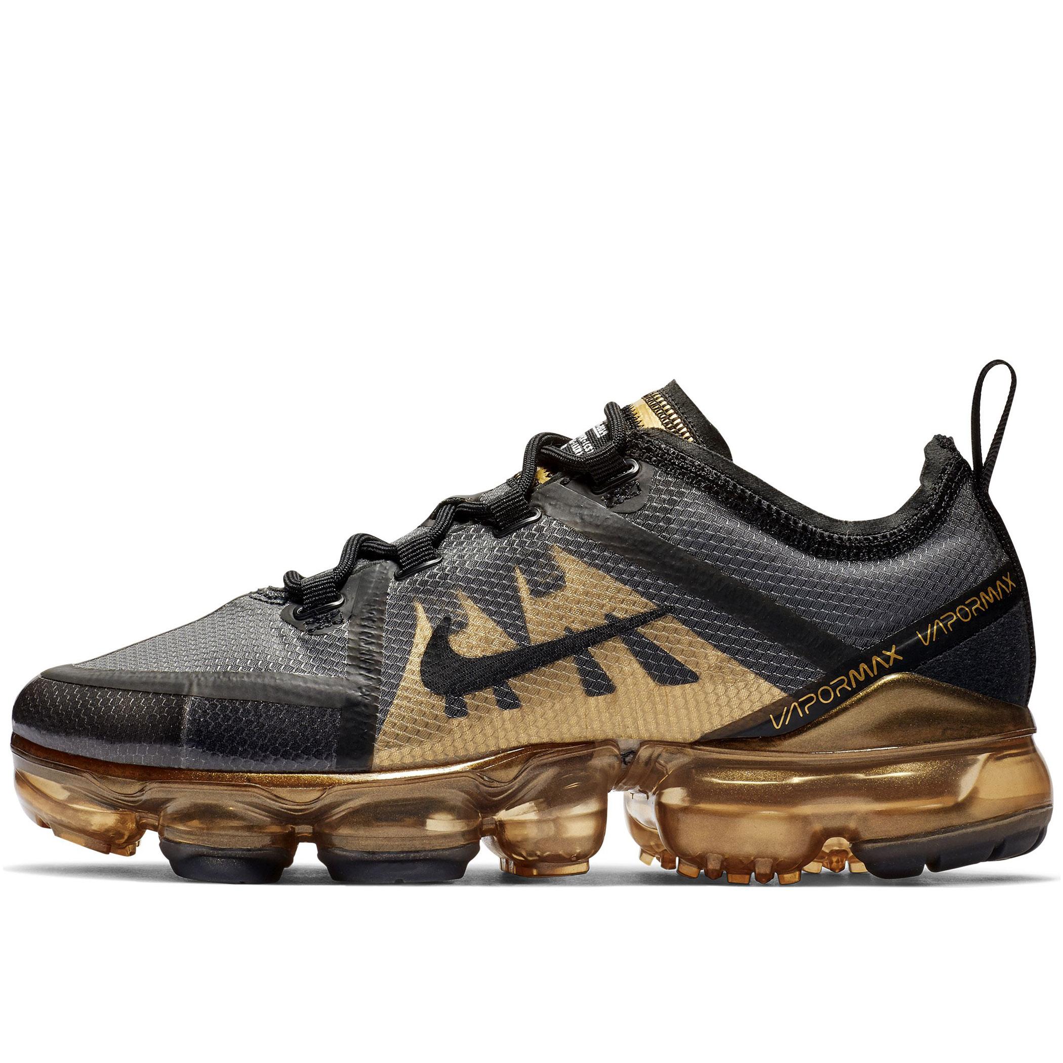 83f44b48 Подростковые кроссовки Nike Air VaporMax 2019 (GS) Black/Metallic Gold -  фото 1