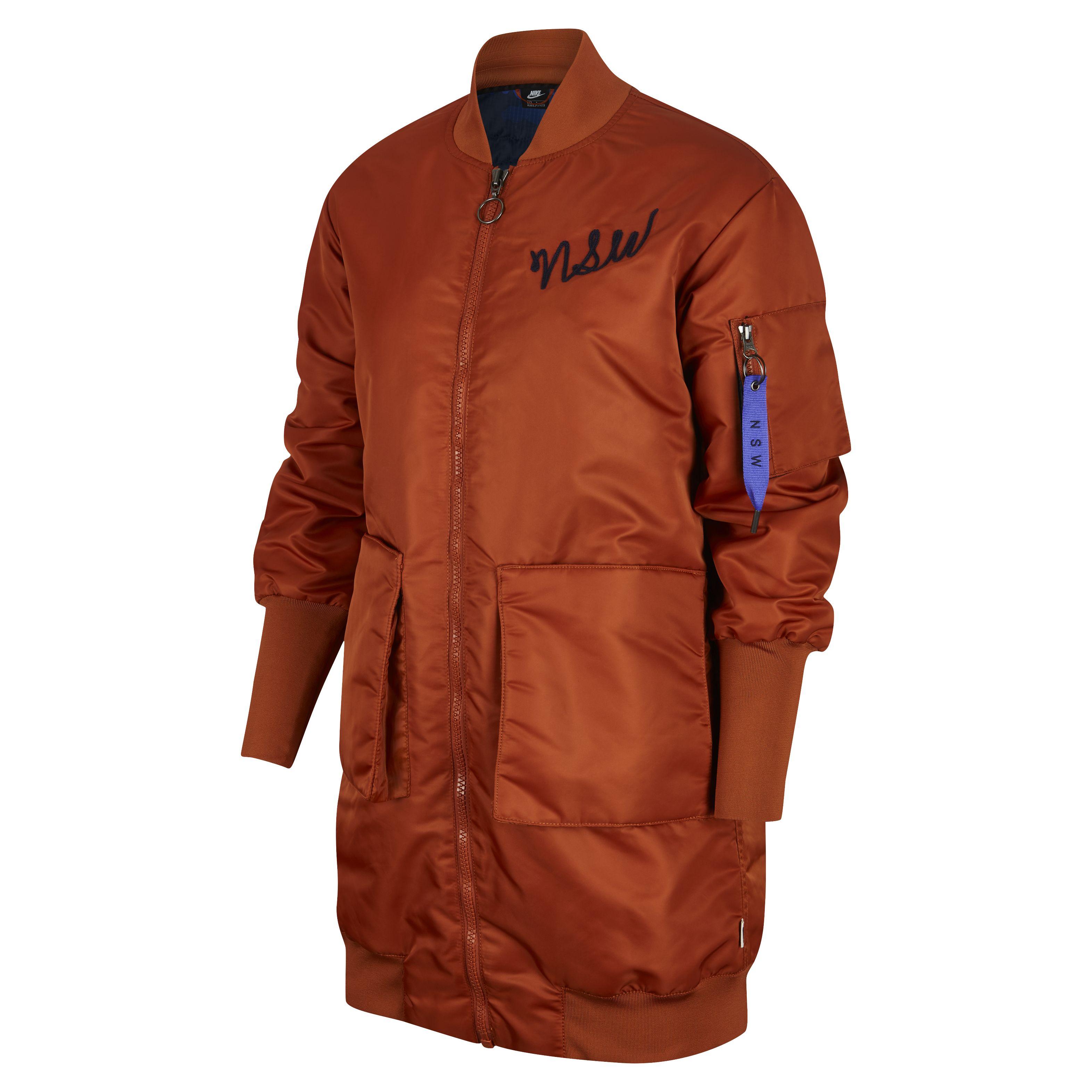 863462e0 Женская куртка Nike Sportswear Parka Insulated MA1 Dark Russet - фото 1