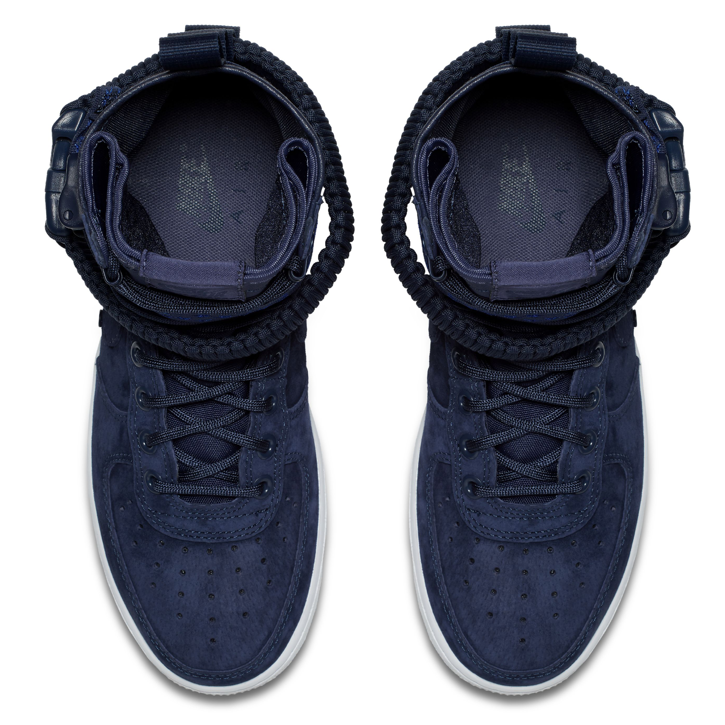 9ed7920b Женские кроссовки Nike SF Air Force 1 Midnight Navy/Midnight Navy-White -  фото