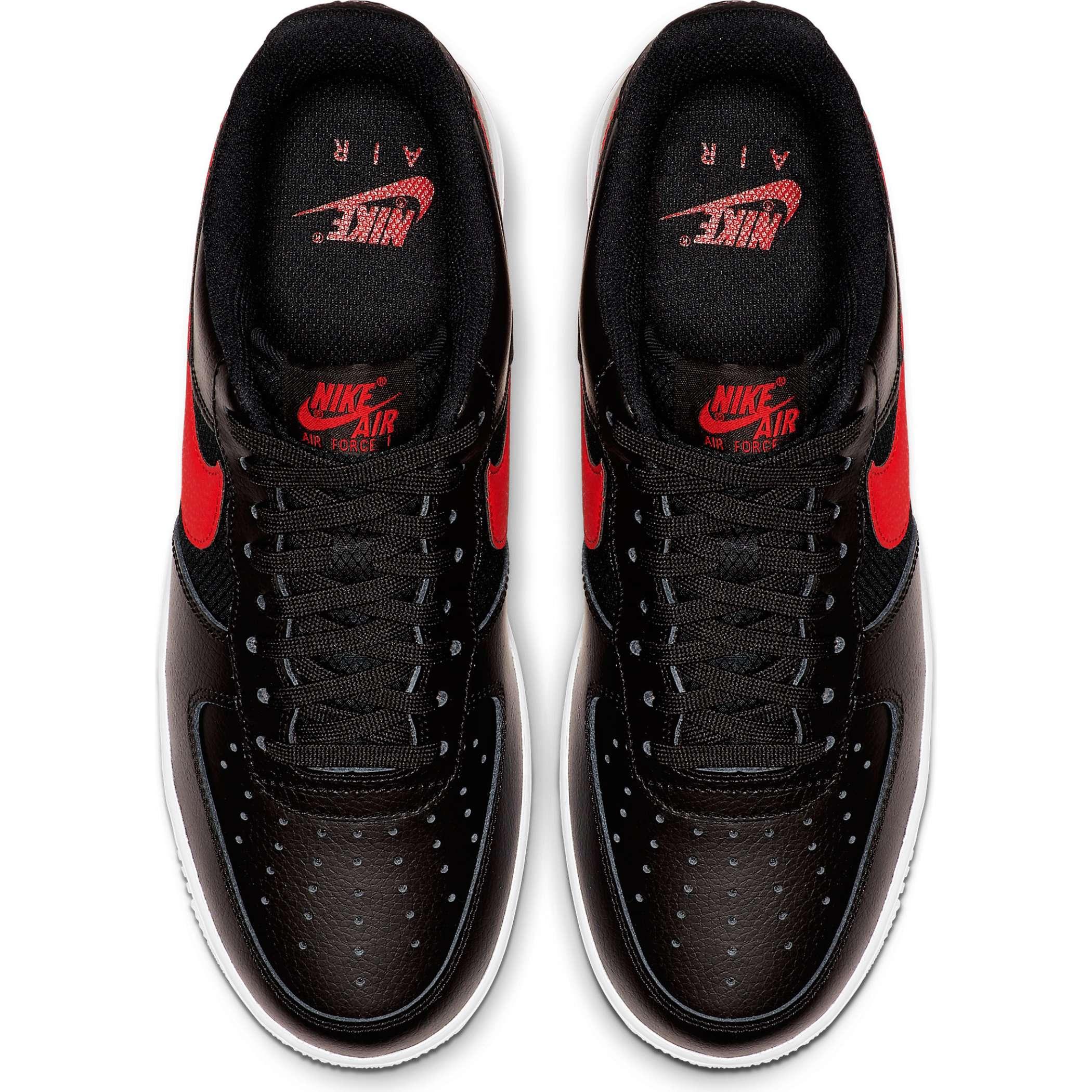 1b8876d0 Мужские кроссовки Nike Air Force 1 '07 LV8 Black/University Red-White -