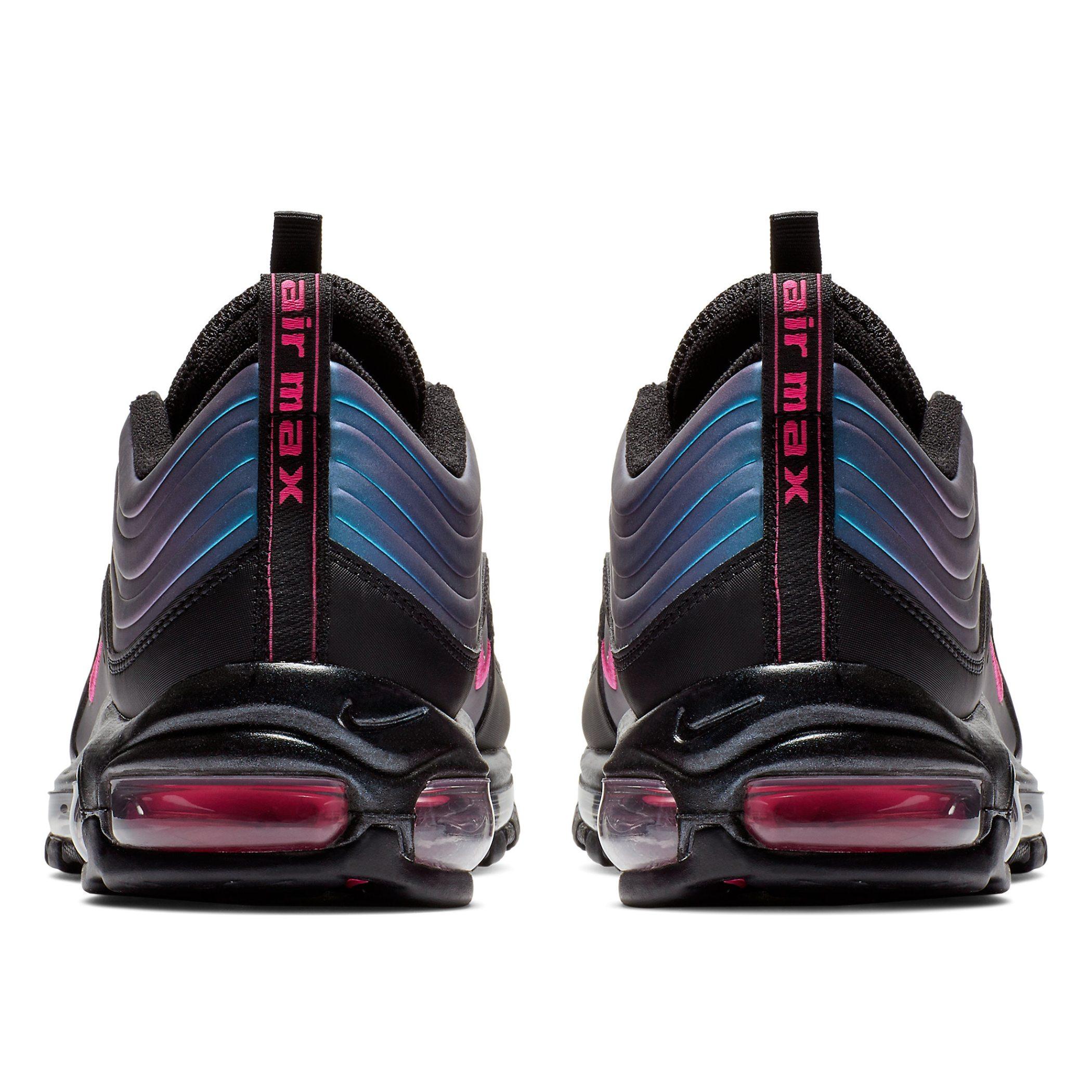 0f1e7063 Мужские кроссовки Nike Air Max 97 Lux Black/Laser Fuchsia-Thunder Grey -  фото