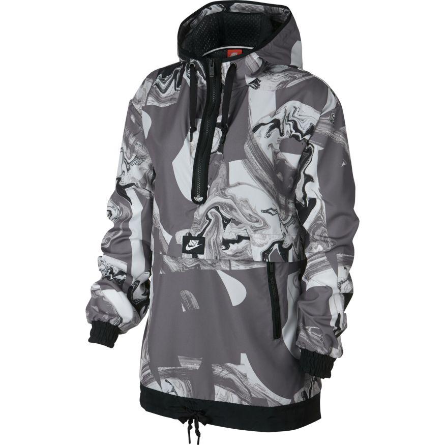 78424f74 Женская куртка Nike Jacket All Over Printed Marble Gunsmoke/Black - фото 1