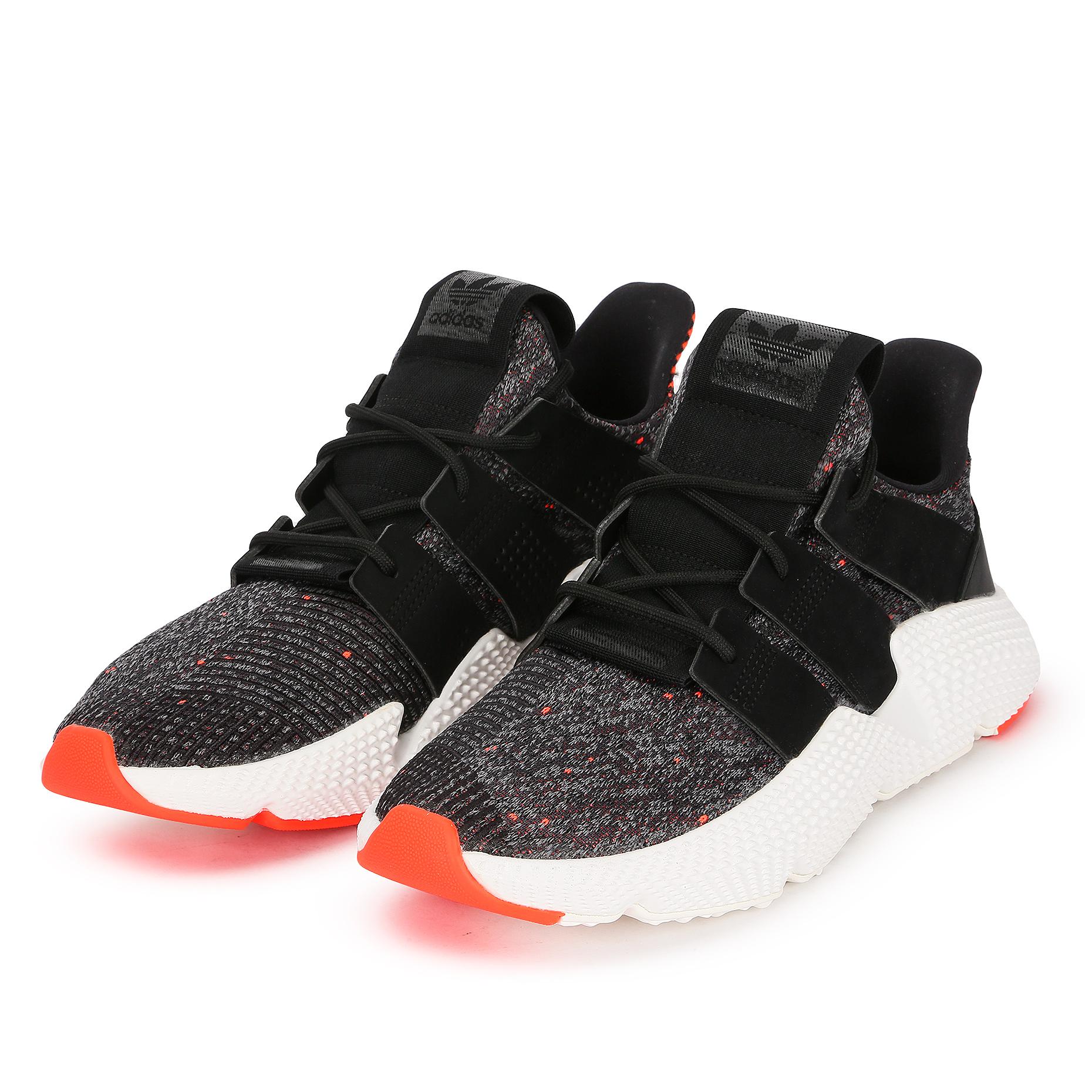 3b82f8d2 Мужские кроссовки adidas Originals Prophere Black/Solar Red - фото 2