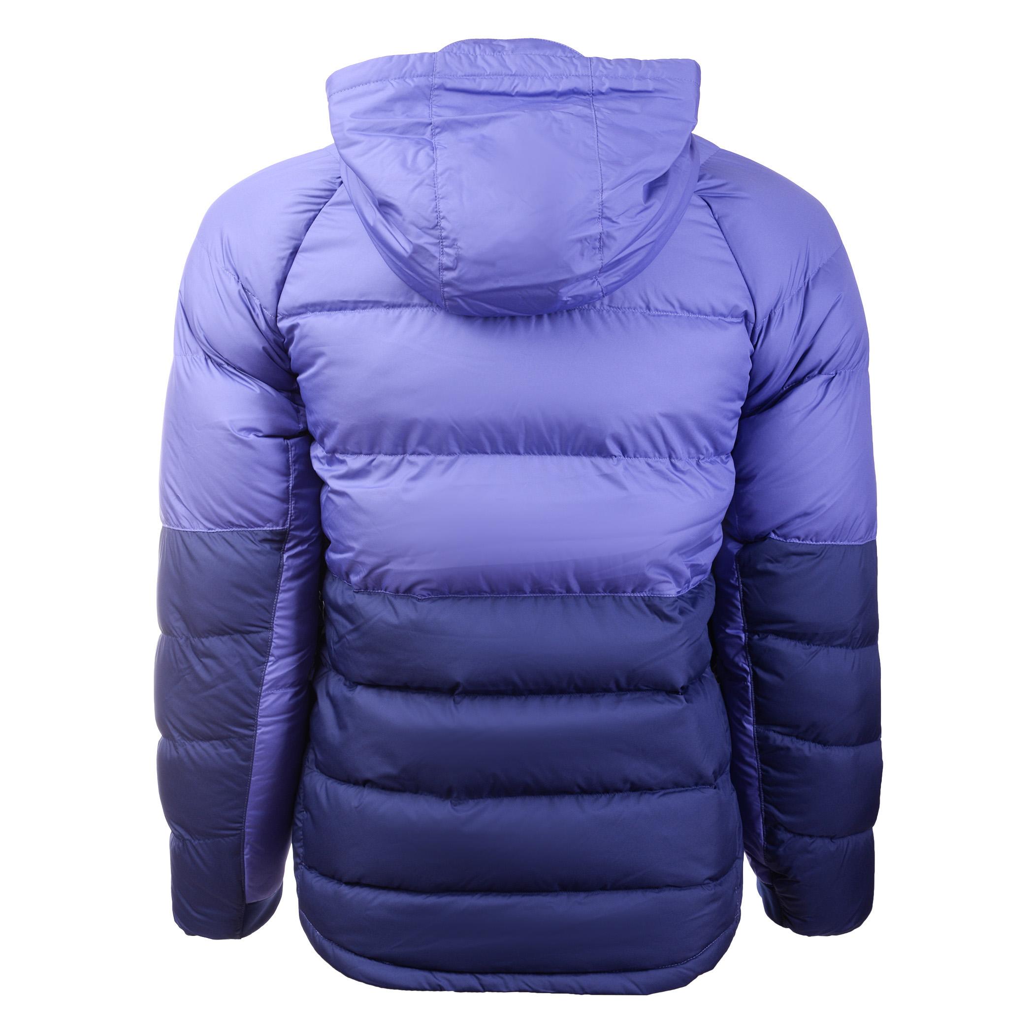 bbccfcdb Детская куртка Nike Parka Down Ow Rush Violet/Blue Void/Lava Glow - фото
