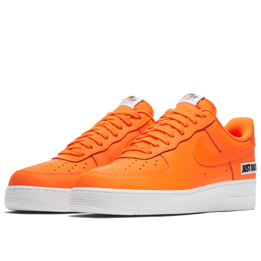 3cefe245 Мужские кроссовки Nike Air Force 1 '07 LV8 Just Do It Total Orange/White
