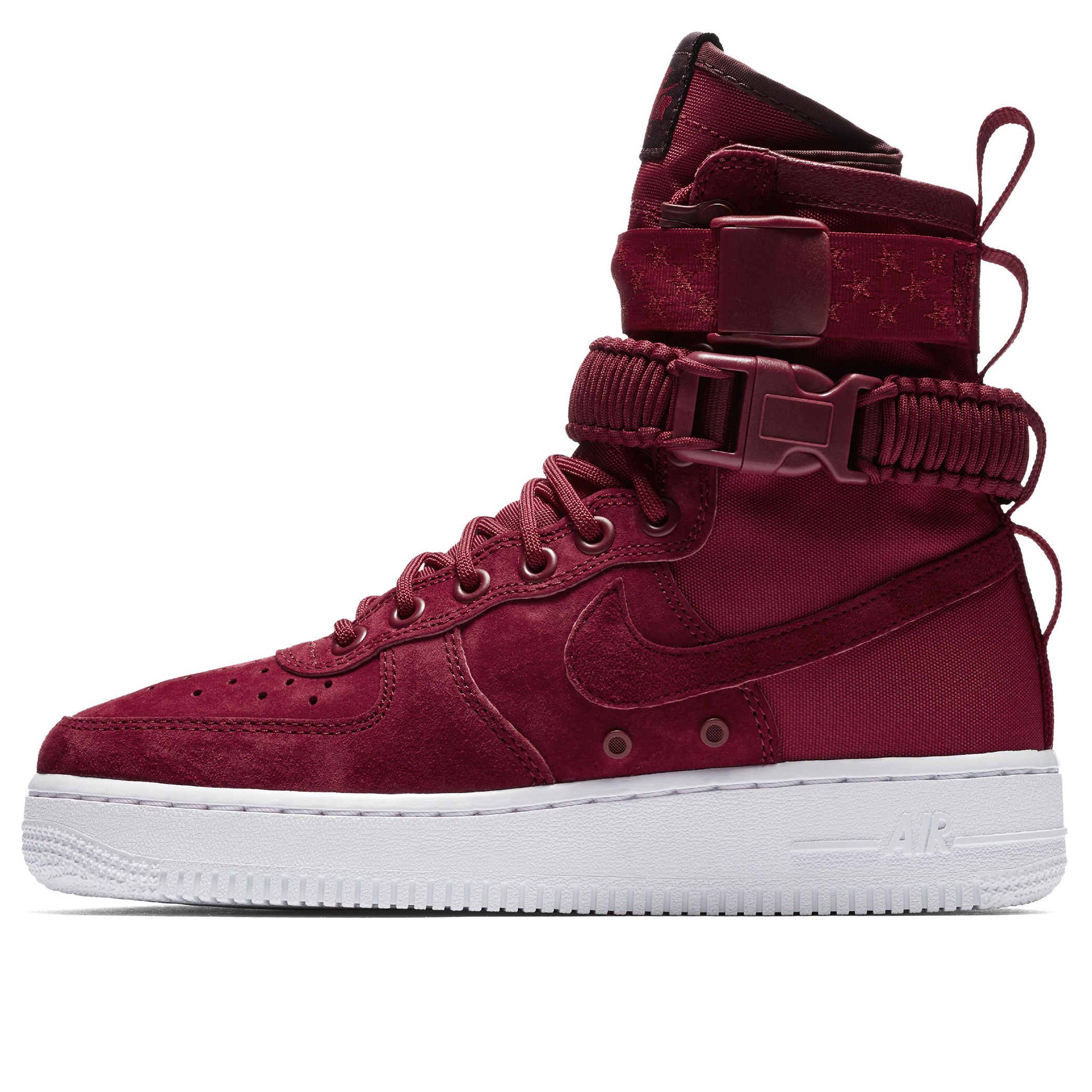 e45bce16 Женские кроссовки Nike SF Air Force 1 Red Crush/Red Crush-White-Burgundy