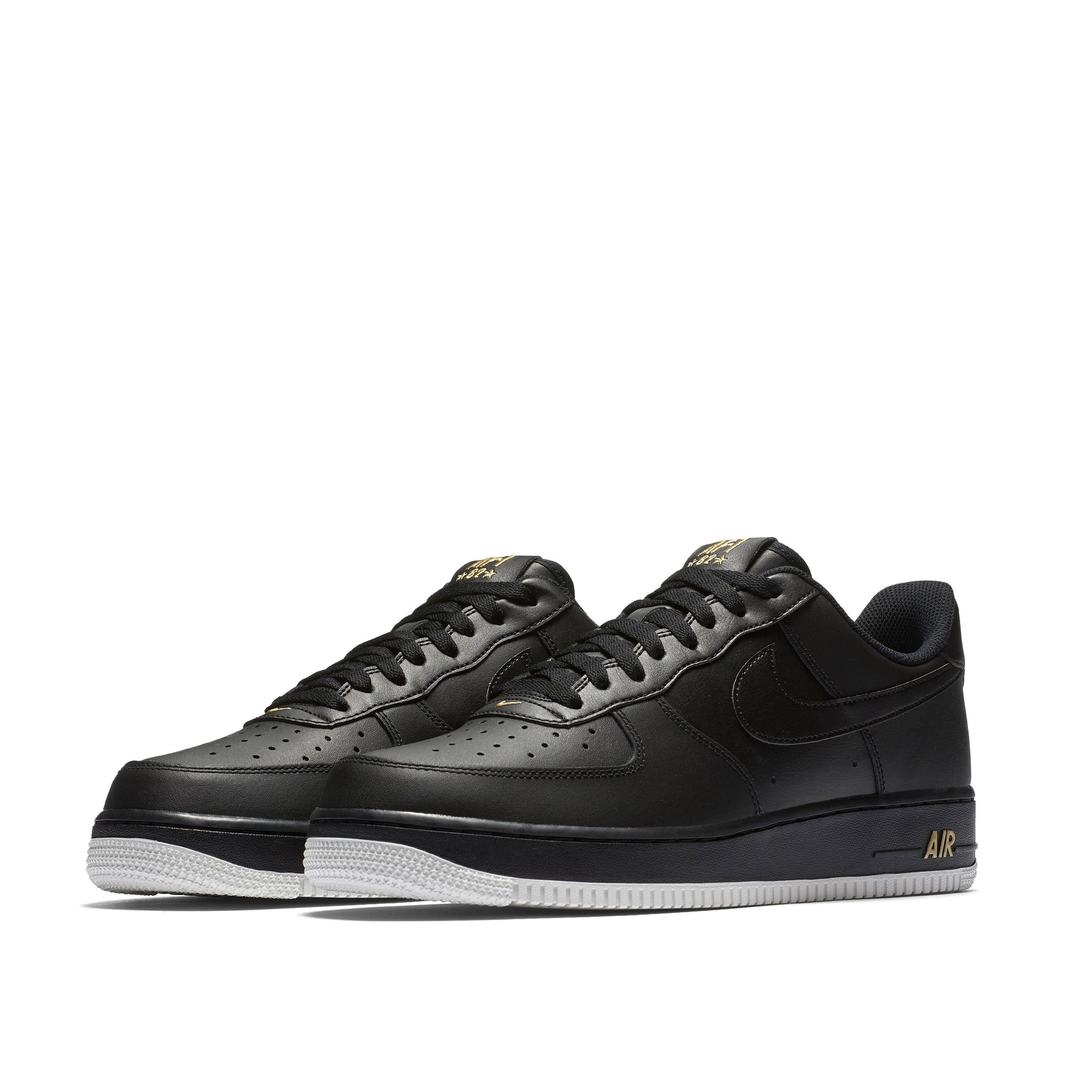 d71e7c3e Мужские кроссовки Nike Air Force 1 '07 Black/Black-Summit White-Metallic