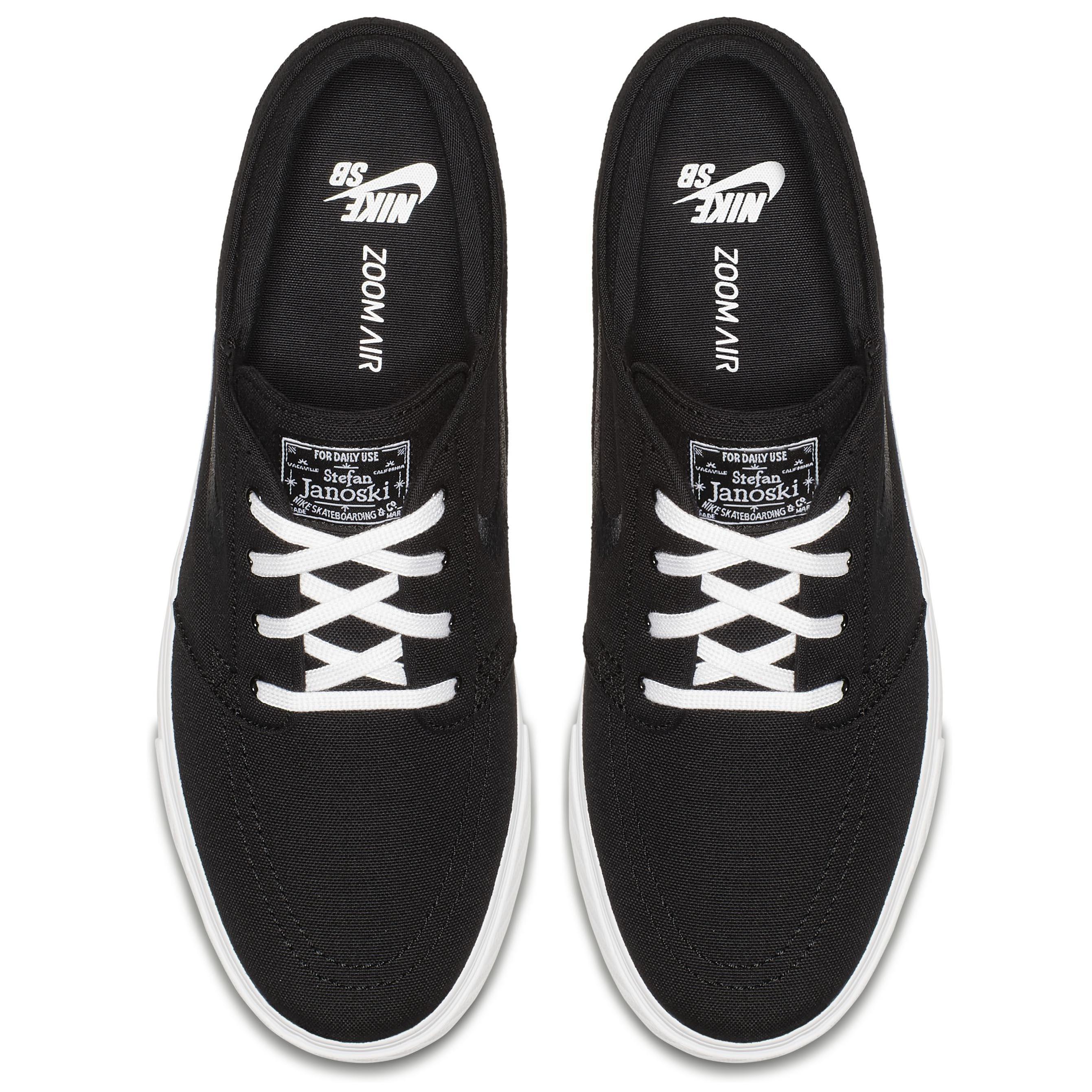 online store 31c49 07322 Мужские кеды Nike SB Zoom Stefan Janoski Canvas Black Black-White - фото 3