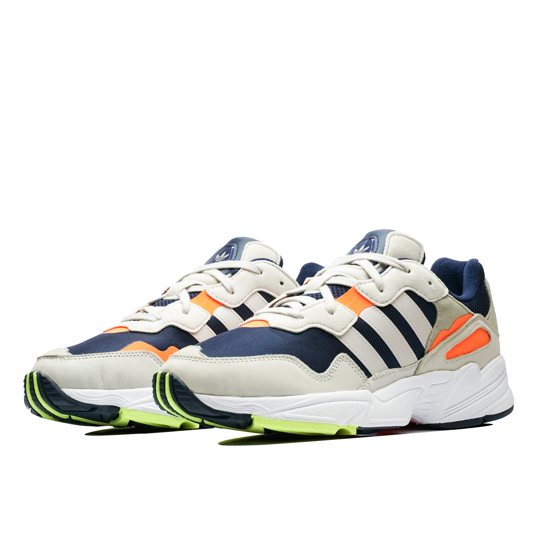 new style 14d00 2010f Мужские кроссовки adidas Originals Yung-96 Collegiate Navy Raw White, Solar  Orange