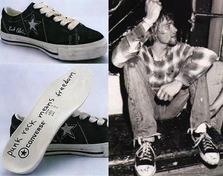 03d7d655d В 1970-80-х Converse продолжали оставаться на пике популярности и стали  символом альтернативной культуры. Белая футболка, джинсы, кожаная куртка и  кеды были ...