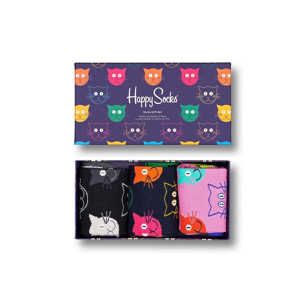 3-Pack Mixed Cat Socks Gift Set